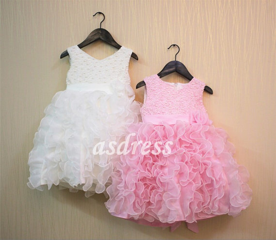 bebd3a92a Pink Flower Girl Dress Pink Girl Dress Tulle Dress Wedding Toddler ...